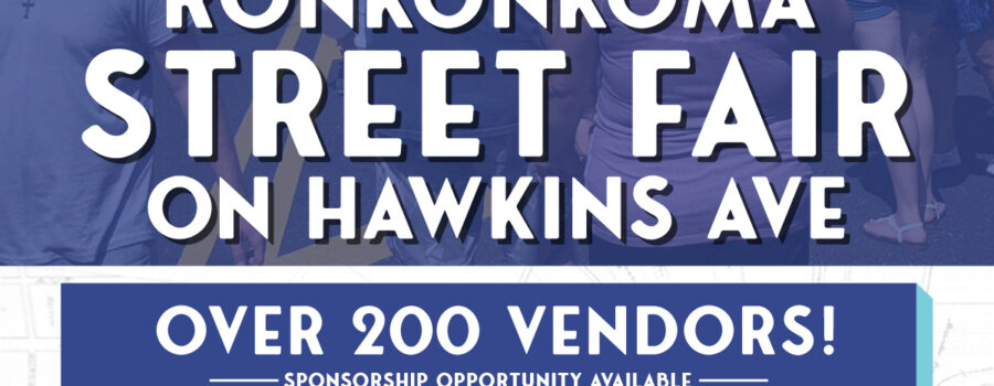 Flyer for Ronkonkoma Street Fair on Sunday, September 5th on Hawkins Ave from 11am - 6pm