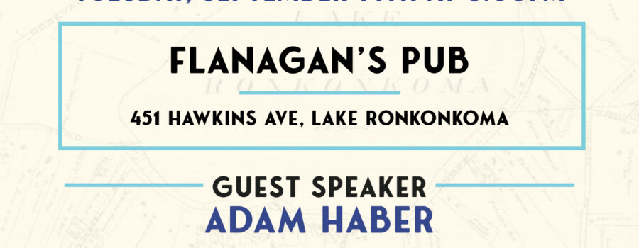 Flyer for General Meeting at Flanagan's Pub on September 14th at 6pm