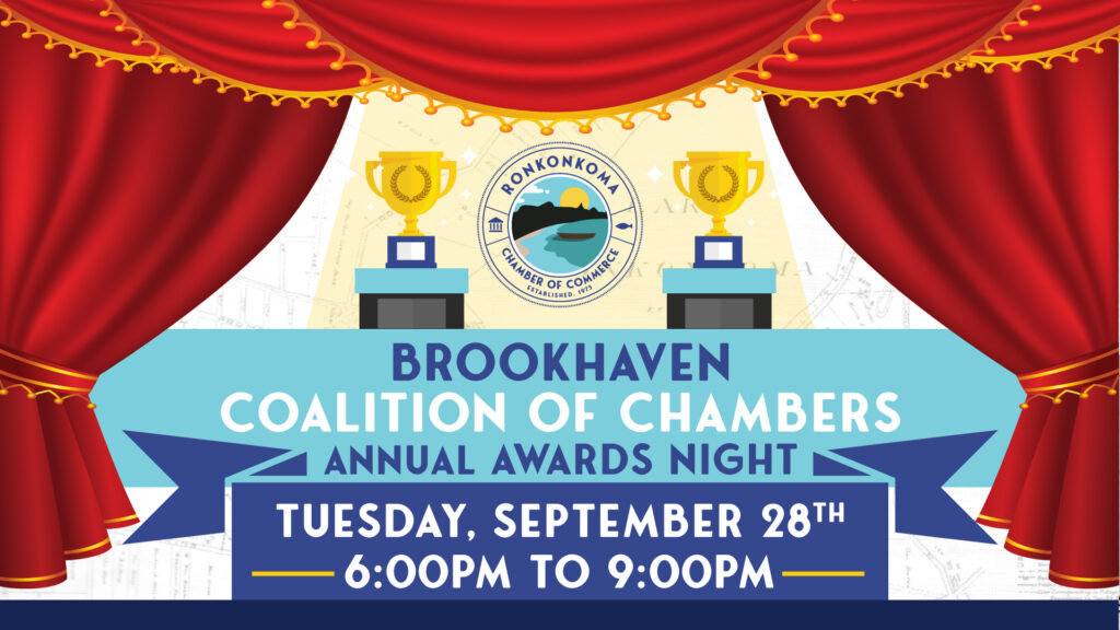 Flyer for Coalition of Chambers Annual Awards Night. Tuesday September 28th from 6pm to 9pm